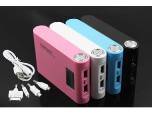 Portable External Emergency Battery Backup/Power Bank Charger/12000mAh LCD dual USB BLACK