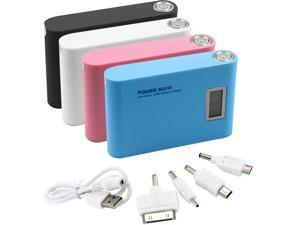 12000mAh LCD External Power Bank Backup USB Battery Charger for iPad Air iPhone 5 5S 4S PINK