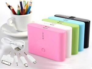 12000mAh External Backup Portable Battery USB Charger Power Bank - Black / White / Blue / Green / Pink
