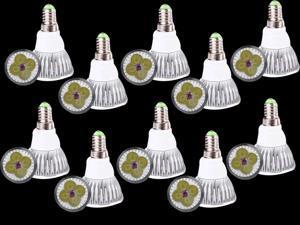 Premium 10pcs Ultra Bright E14 LED Spot Lights Lamp Bulb 15W - Cool White (6000-6500K)