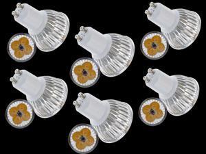 6pcs Ultra Bright GU10 LED Spot Lights Lamp Bulb 15W - Warm White (3200-3500K)