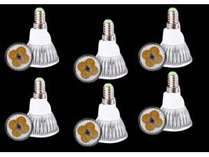 6pcs Ultra Bright E14 LED Spot Lights Lamp Bulb 15W - Warm White (3200-3500K)