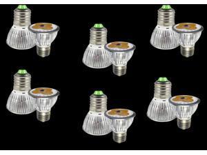 6pcs Ultra Bright E27 LED Spot Lights Lamp Bulb 15W - Warm White (3200-3500K)