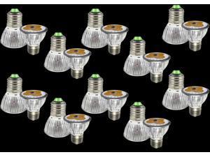 Premium 10pcs Ultra Bright E27 LED Spot Lights Lamp Bulb 12W - Warm White (3200-3500K)