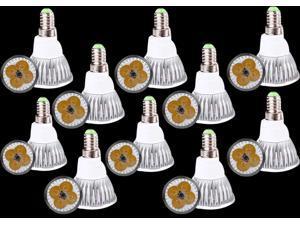 Premium 10pcs Ultra Bright E14 LED Spot Lights Lamp Bulb 15W - Warm White (3200-3500K)