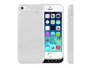 White 2200mAh External Power Bank Backup Charger Battery Case Cover for Apple iphone 5 5s 5c
