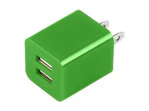 Premium 2A+1A Dual Port USB Power Adapter for iPhone 3/ 3GS/ 4/ 4S/ 5 iPod Nano/ Touch iPad/ Mini iPad- Green