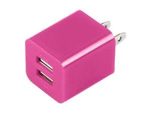 Premium 2A 1A Wall Adapter AC Charger USB Dual Port Compatible With Apple iPhone 4/ 4S/ 5/ 5S/ 5G/ 5C/ Samsung/ HTC/ LG - ...