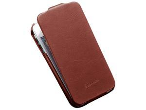 Premium Flip PU Leather Case for iPhone 5 5S Phone Bag Cover Luxury Retro Hot Selling with FASHION logo - Brown