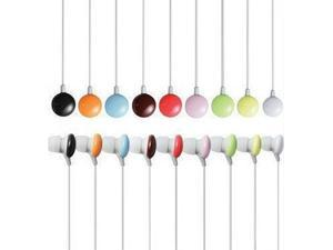 Premium 2 Pack 3.5mm Candy Colors Earphone Earbud Headphones for Mp3 Cell Phones Music iPod iPad Tabs - Multi Colors