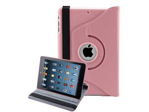 Premium 360 Rotating Magnetic PU Leather Case Smart Cover Stand for iPad Mini 7.9 Inches - Pink Color