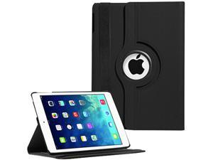 360 Swivel Stand Rotating Magnetic PU Leather Smart Case Cover Pouch Holder for Apple iPad Air 5 5th Gen Retina Display 9.7-Inches ...