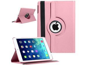 Auto Sleep/Wake Function 360 Degree Rotating Smart Case Cover For 9.7 inch iPad Air 5th Generation - Baby Pink