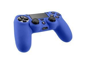 2pcs Combo Silicone Rubber Soft Case Gel Skin Cover For Sony PlayStation 4 PS4 Controller Blue