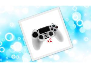 2pcs Combo Silicone Rubber Soft Case Gel Skin Cover For Sony PlayStation 4 PS4 Controller Clear