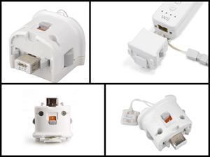 Premium New Nintendo Wii MotionPlus (Motion Plus) Adapter (White)