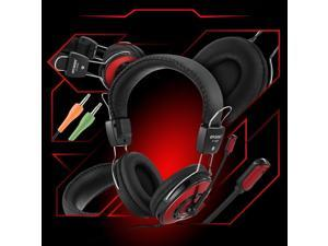 3.5mm Jack Universal Headphone Headset for Laptop Computer Tablets Gaming MP3 MP4 Smartphone (BLACK/RED) Ovann OV-T688MV
