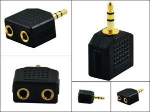Premium 3.5 mm Splitter 1 Male to 2 Female Interconnect Audio jack plug adapter