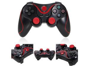 Replacement Doubleshock  Black w/ Red Strips Wireless Bluetooth Game Pad Controller For Sony  PS3
