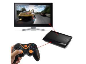 Black Orange Wireless Doubleshock 3 Bluetooth Game Pad USB Controller For Sony Playstation 3 PS3