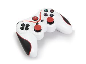 For PS3 DoubleShock Wireless Controller -  White + Red Strips