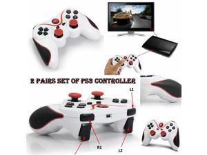 2 Pairs Set Pack WIRELESS CONTROLLER USB PS3 DoubleShock 3 Game Controller Pad