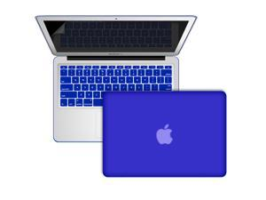 "3 In 1 ROYAL BLUE Frosted Matte Rubber Coated Rubberized See Thru Hard Snap On Case for Apple 11"" inch Macbook Air - With ..."