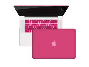 3 in 1 MacBook Pro® 15-inch Retina® Display A1398 Rubberized Hot Pink Hard Case + Protective Keyboard Skin + Screen Protector ...