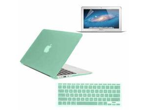 """For Apple Macbook Air 11"""" Ocean Green Rubberized Hard Case Cover + Keyboard Cover + Screen Protector"""