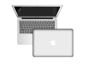 """3 in 1 Hard Shell Rubber Coated Case Cover + Silicone Keyboard Cover + Screen Protector For Apple Macbook Air 11"""" - Clear"""