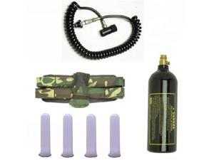 Paintball GXG Camo 4+1 Tubes Coiled Remote 20oz Tank