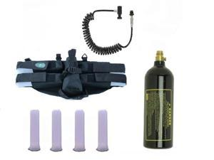 GXG Paintball Pack 4+1 Harness Black/Tubes/Coiled Remote/20oz Tank