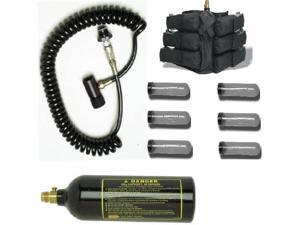 GXG Paintball Pack 6+1 PODS + Coiled Remote + 20oz Tank