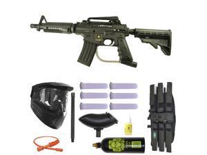 US Army Alpha Black Tactical Paintball Marker Gun 3Skull Super Mega Set