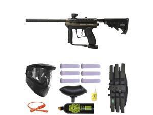 Spyder MR100 Pro Paintball Marker Gun 3Skull Mega Set - Olive