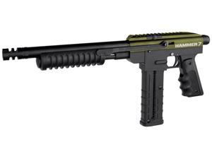 Spyder Hammer 7 Pump Paintball Marker Gun - Olive Green