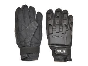 3Skull Paintball Full Finger Leather Gloves Black - Medium