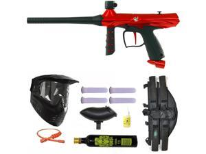 Tippmann Gryphon Paintball Marker Gun 3Skull 4+1 9oz Mega Set - Red