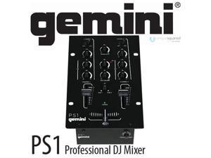 Gemini PS1 6.5 Inch 2-Channel Stereo DJ Mixer