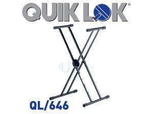 QuikLok QL-646 QL646 Double Braced Keyboard Piano Stand