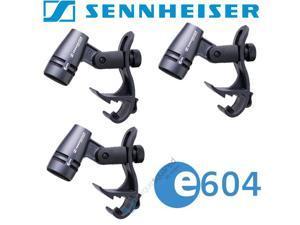 Sennheiser E604 Drum Microphone 3-Pack w/ Drum Rim Clips