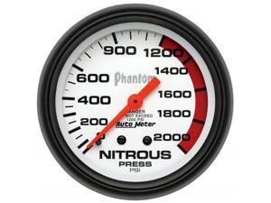 Auto Meter Phantom Mechanical Nitrous Pressure Gauge