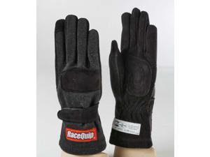 Racequip 355003 Racing Gloves-Black