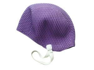 Water Gear Bubble Silicone Swim Cap Purple Medium