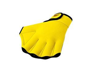 Speedo Fitness Glove UV Yellow Large