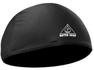 Water Gear Lycra Swim Cap Black