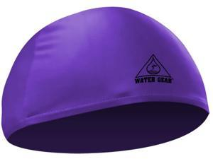 Water Gear Lycra Swim Cap Purple