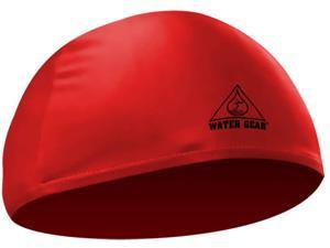 Water Gear Lycra Swim Cap Red
