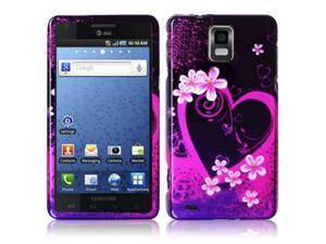 Samsung Infuse 4G i997 Purple Love Design Snap-On Hard Case