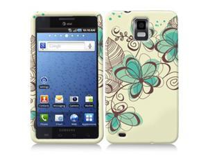 Samsung Infuse 4G i997 Charcoal Drawing Flower Design Snap-On Hard Case